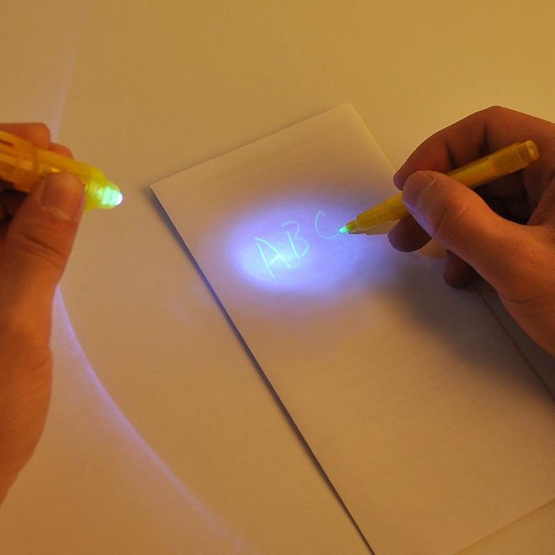 Купить с кэшбэком A3 LED Luminous Draw Light With Night Noctilucent In Dark Children Toys Magic Educational Fluorescent Pen Drawing Board Set Kids