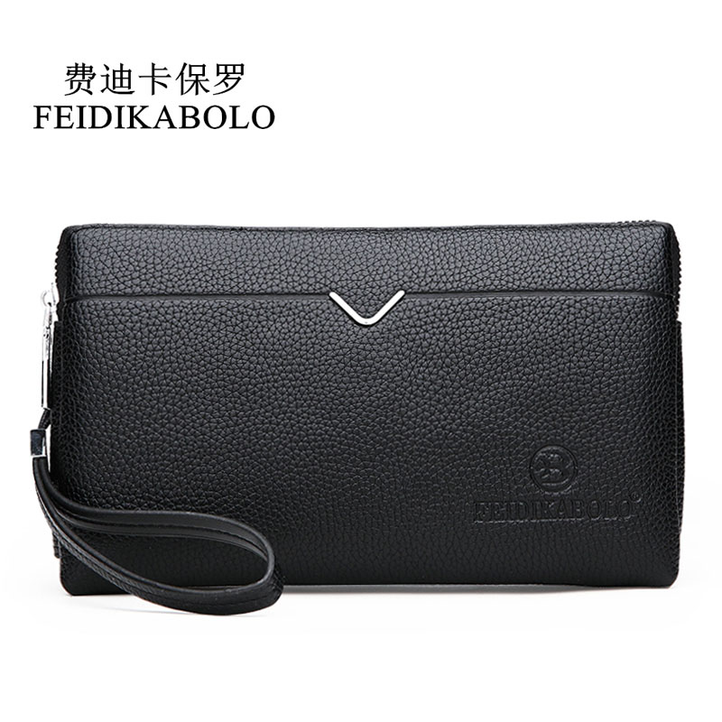 FEIDIKABOLO Luxury Male Leather Purse Men's Clutch Wallets Handy Bags Business Carteras Mujer Wallets Men Black Brown Wallet Man 2016 luxury male 100% original leather purse men s clutch wallets handy bags business carteras mujer wallets men dollar price
