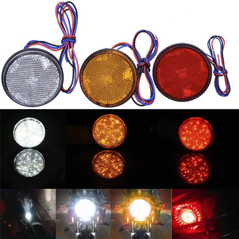 3 цвета круглой 24 SMD автомобилей включите singal свет круглые задние фонари ATV светодиодные отражатели Бортовой грузовик сигнальные лампы для Универсальный мото