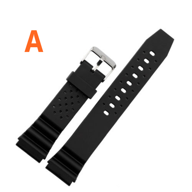 16mm 18mm 20mm 22mm Watchband Silicone Rubber Bands For Watches EF Replace Electronic Wristwatch Band Sports Watch Straps