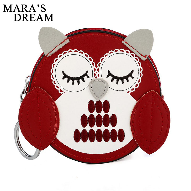 Maras Dream Zipper Wallet for Women With Phone PU Leather Cartoon OWL Clutch Purses Rfid Credit Cards Holder Ladies Wallets