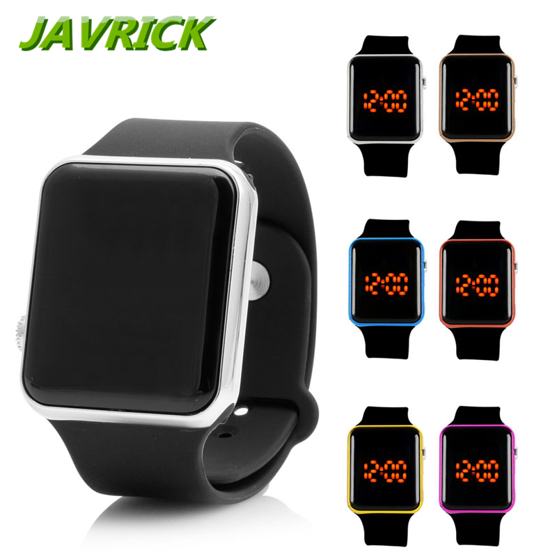 Men Womens Silicone LED Sport Watch Touch Digital Bracelet Wrist Watches Gift Cool Black Wristwatch 2016 unisex sport watch silicone bangle digital led men watches jelly waterproof bracelet women wristwatch relojes mujer ylsw