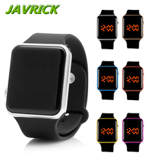 Men Womens Silicone LED Sport Watch Touch Digital Bracelet Wrist Watches Gift Cool Black Wristwatch