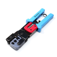 4P 6P 8P Network Ratchet Crimping Plier Wire Cutter Stripper for RJ45 Crystal Head Cable RJ11 Telephone Line Crimper