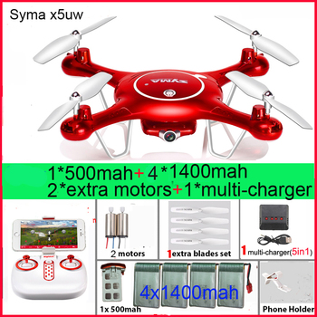 SYMA X5UW RC Drone 720P WIFI FPV Camera Helicopter Height Hold One Key Land 2.4G 4CH 6Axis RC Quadcopte with batteries