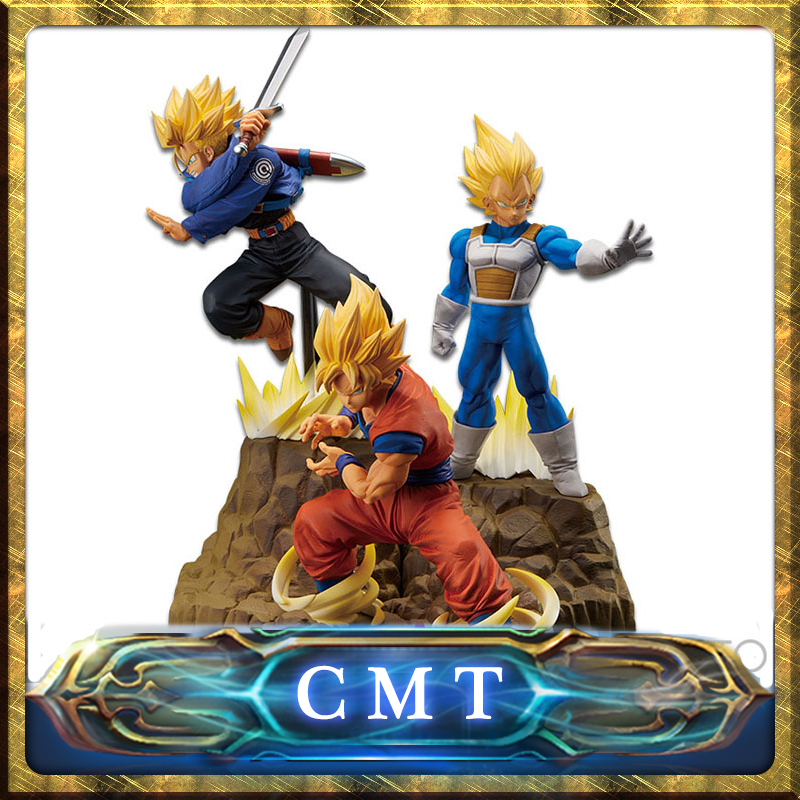 цена CMT Origianl Banpresto Dragon Ball Z DBZ Absolute Perfection Figure Super Saiyan Son Goku Vegeta Trunk Anime PVC Toys Figure