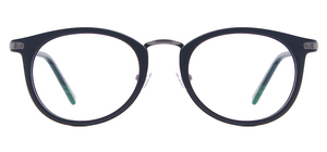 Image 2 - نظارات كلاسيكية خفيفة الوزن للرجال والنساء نظارات مستديرة من البلاستيك المعدني للعدسات الطبية