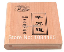 Classic Chinese Wooden Traditional Game Toy Three Kingdom Huarong Dao Path Klotski Sliding Puzzle