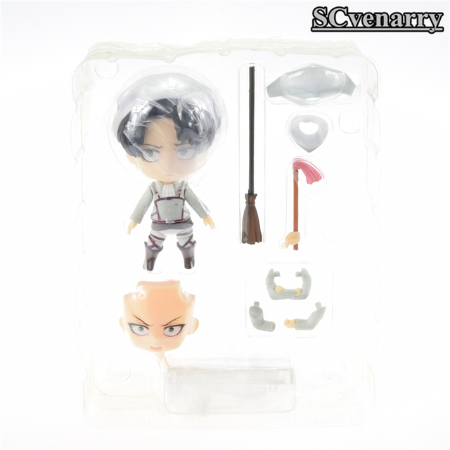 Attack On Titan Nendoroid Levi Cleaning Version PVC Action Figure Toy