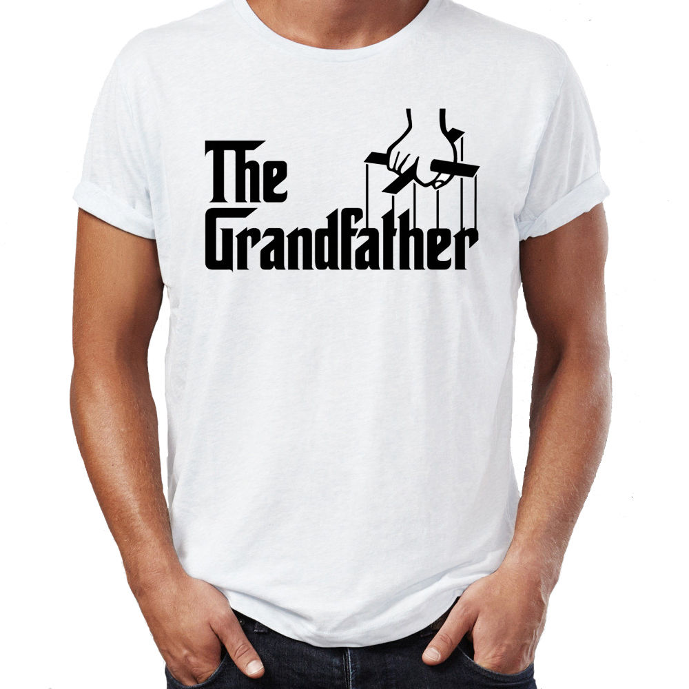 The Grandfather Godfather Style Grandad Funny Father Day Joke T Shirt Print T Shirts Man Short Sleeve T-Shirt Top Tee