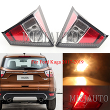 лучшая цена MIZIAUTO 1 PCS  Tail Brake Light Inner for Ford Kuga 2017-2019 LED New for Focus Sedan Rear Tail Light DRL+Brake+Park+Signal
