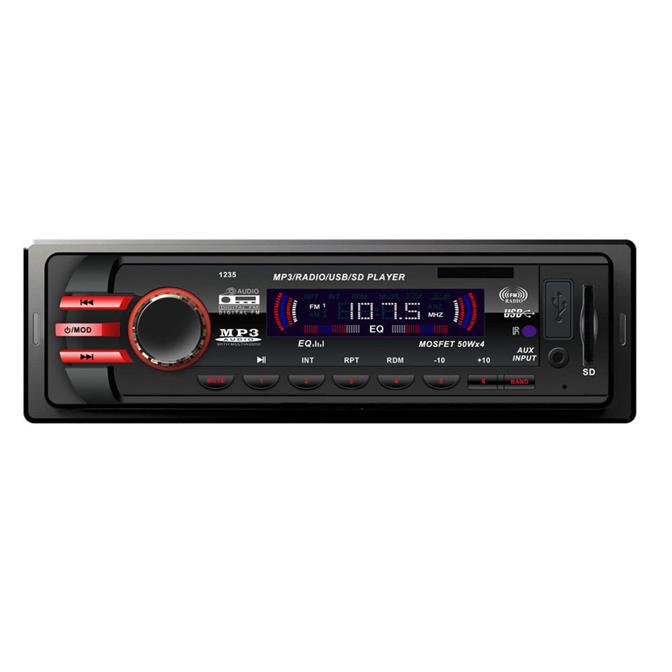 Us Stock1 Din Car Radio Size Stereo Fm And Mp3 Player: 10V-14V 1 Din Car Digital Stereo FM Radio Mp3 Player Car