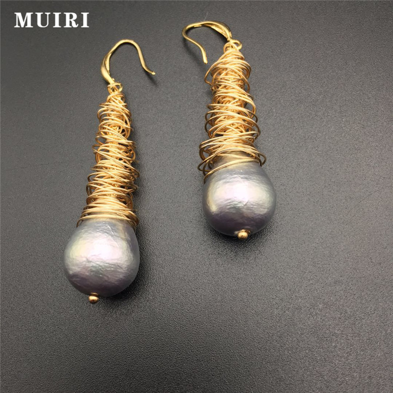 Handmade Design Jewelry Earrings for Women Ethnic Drop Earring Female Earring 2018 New Fashion Safe Metal Natural Beads Earring
