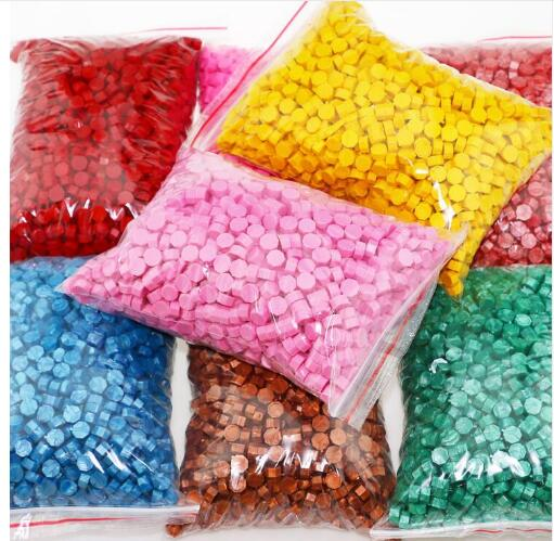 1000pecs 24 Colors New Sealing Wax For Retro Seal Stamp Wax Seal Pill Granular Stamp Wax Sticks Wedding Envelope Card Seal Beads