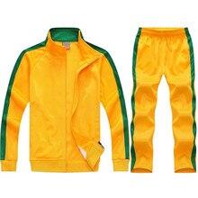 Soccer Training Suit Men Football Tracksuit Custom Team Warm Survetement Chandal Tops Pants Sportwear Played Clothing