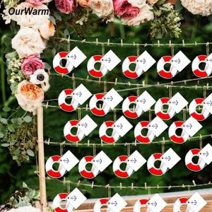 Image 1 - OurWarm 20pcs Lifesaver Bottle Opener Nautical Theme Baby Shower Wedding Favor and Gifts DIY Decorations Lifebuoy