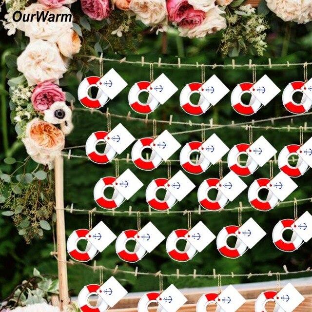 OurWarm 20pcs Lifesaver Bottle Opener Nautical Theme Baby Shower Wedding Favor and Gifts DIY Decorations Lifebuoy