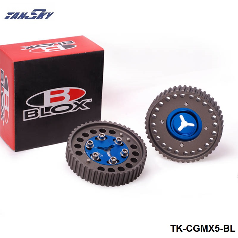Prix pour Tansky 2 Pcs BLOX Aluminium Mise À Niveau Moteur Cames poulie 1 Paire Pour Mazda Miata Protege Escort 1.6L 1.8L Dohc 91-97 TK-CGMX5-BL