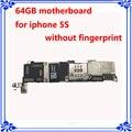 64 gb desbloqueado originais placa lógica mainboard motherboard para iphone 5s sem impressões digitais placa de sistema ios sem touch id