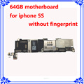 64GB original unlocked Motherboard for iphone 5S mainboard without fingerprint logic board IOS system board without Touch ID