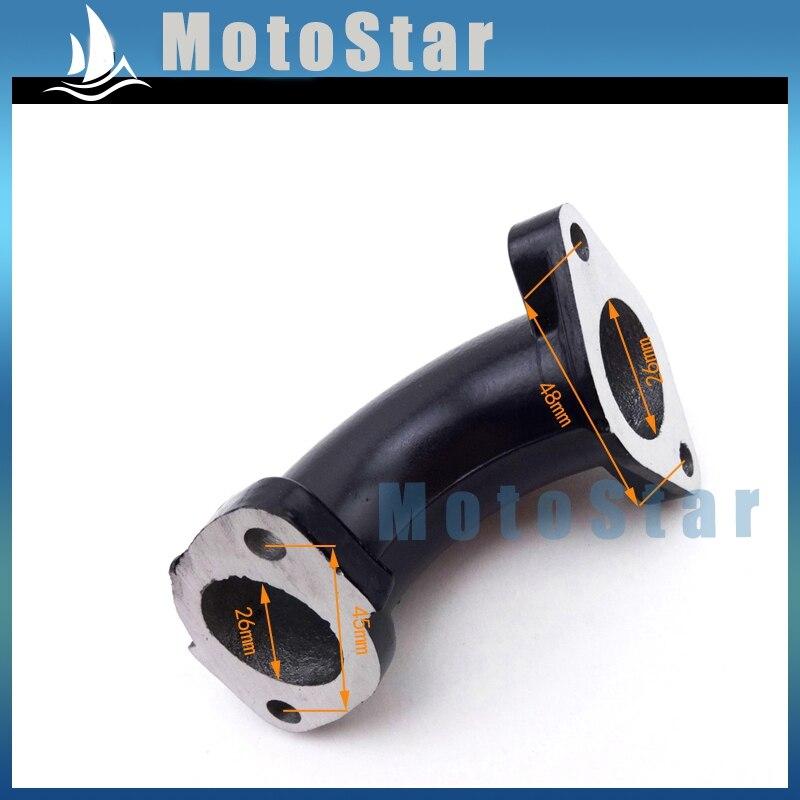 US $5 03 38% OFF|Black 26mm Carburetor Inlet Manifold Intake Pipe For 110cc  125cc 140cc Lifan YX Chinese Pit Dirt Motor Bike Motorcycle Motocross-in