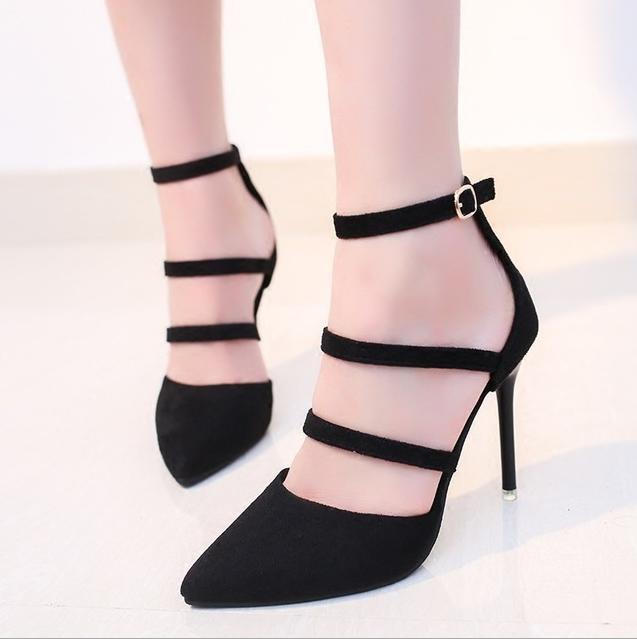 vino 2018 Explosión Con Hueco 43 Altos Gruesos Gran Moda Zapatos Talones De Mujeres Negro Nuevo Primavera 34 Una Puntiagudo Las Tinto Alta RvgORrTqw