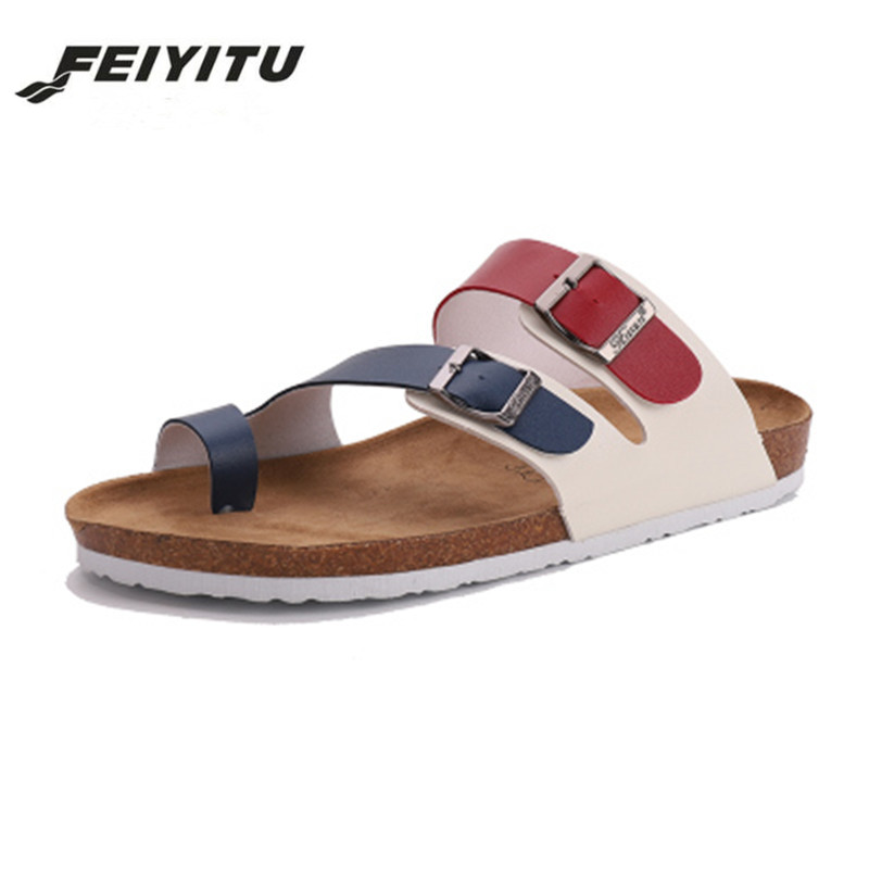 6a7240fa61ba Detail Feedback Questions about FeiYiTu Summer Style Shoes mens Orthotic  Sandals Lovers Cork Slippers Slip on Casual Classics Flip Flop Size 35 45  on ...