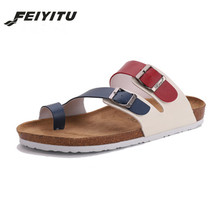 FeiYiTu Summer Style Shoes mens Orthotic Sandals Lovers Cork Slippers Slip-on Casual Classics Flip Flop Size 35-45