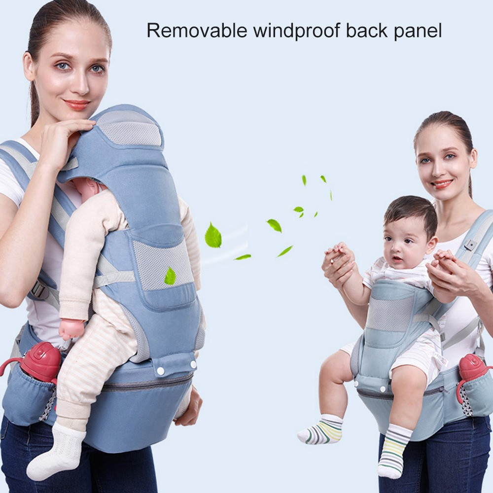 0-48M Ergonomic Baby Carrier Infant Baby Hipseat Carrier Front Facing Baby Wrap Sling For Travel 9