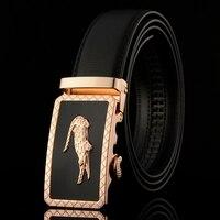 New Designer Automatic Buckle Leather Men Belt Famous Brand Luxury Belts For Men
