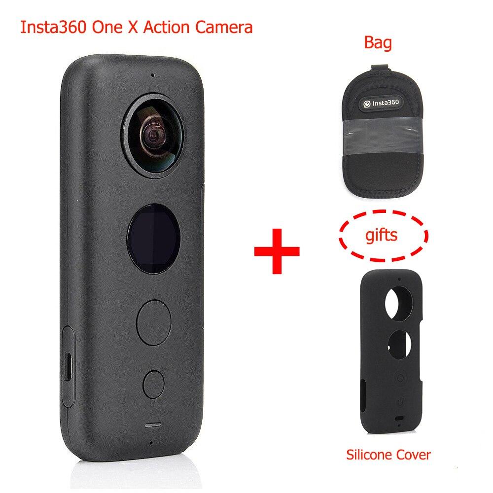 Caméra d'action Insta360 ONE X 360, avec stabilisation de flux, caméra d'action de transfert WiFi en temps réel vidéo 5.7K pour iPhone