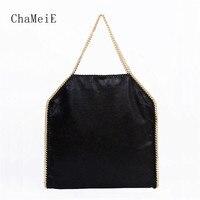 Classic Style Luxury Brand Women Shoulder Bag Heavy Steel Chain PVC Handbag Large Capacity Causal Totes for Women Bolsa 40cm