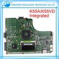 Placa madre del ordenador portátil para asus k55vd k55a maindboard 60-n89mb1301-a05 integrada ddr3 probó por completo el envío libre
