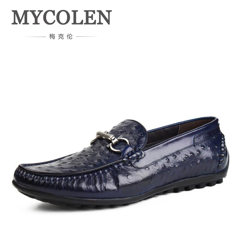 MYCOLEN High-grade Handmade Leather Men Causal Shoes Autumn New Slip on Men Driving Loafers Fashion Comfort Men Shoes Flats new fashion autumn solid color men shoes leather low slip on men flats oxford shoes for men driving shoes size 38 44 yj a0020