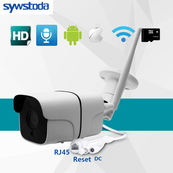 IP Camera Wifi 1080P 720P ONVIF Wireless Wired P2P CCTV Bullet Outdoor Camera With Miscro SD Card Slot Max 64G yoosee wifi ip smart camera bullet 720p 960p 1080p support p2p onvif sd card max64g motion detector alarm for cctv home security