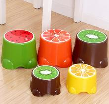 2PCS Creative cartoon fruit stool Portable Small Plastic Kids Stool Travel Camping Bench Seat Cartoon Child Fishing