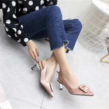 Liren 2019 Summer Fashion Pointed Toe Square Pattern Decoration Buckle Strap High Thin Heels Sandals Shallow Sexy Lady Shoes
