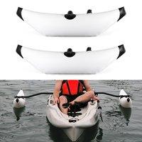 PVC Inflatable Boat Kayak Outrigger Canoe Boat Standing Float Stabilizer Standing Float Buoy 101cm Aluminum Alloy Rod 2Pcs