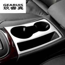 Стайлинга автомобилей интерьера Стикеры держатель стакана воды Панель украшения обложки Стикеры с отделкой для Audi A4 B8 A5 RHD LHD авто аксессуары
