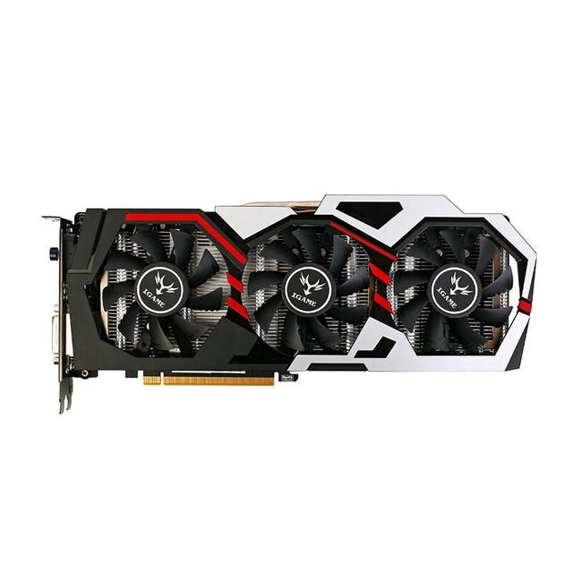 Красочные GPU iGame GTX1080 имир U 8gd5x Топ графическая карта gddr5x pci-e x16 3.0 видеокарта DVI + 2 * HDMI + 2 * DP Порты и разъёмы для 1080 8gd5