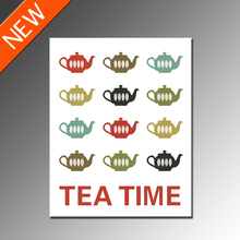 FREE SHIPPING Tea Time Canvas Painting Tea Cup  Frameless Printing(Unframed)40x50cm