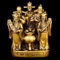 30 см большая эффективная талисман домашняя защита Деньги Рисование военное богатство WU LU CAI SHEN FENG SHUI латунная статуя