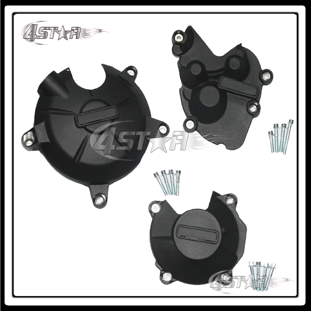 Motorcycle Moto Racing Set Engine Stator Crankcase Cover Protection Case Kit For ZX6R 2009 2010 2011 2012 2013 2014 2015 2016