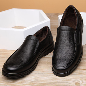 Image 5 - أحذية من الجلد الحقيقي الرجال أحذية الشتاء ماركة الأحذية أحذية دافئة أفخم حذاء كاجوال رجالي الذكور عالية الجودة جلد البقر المتسكعون KA444