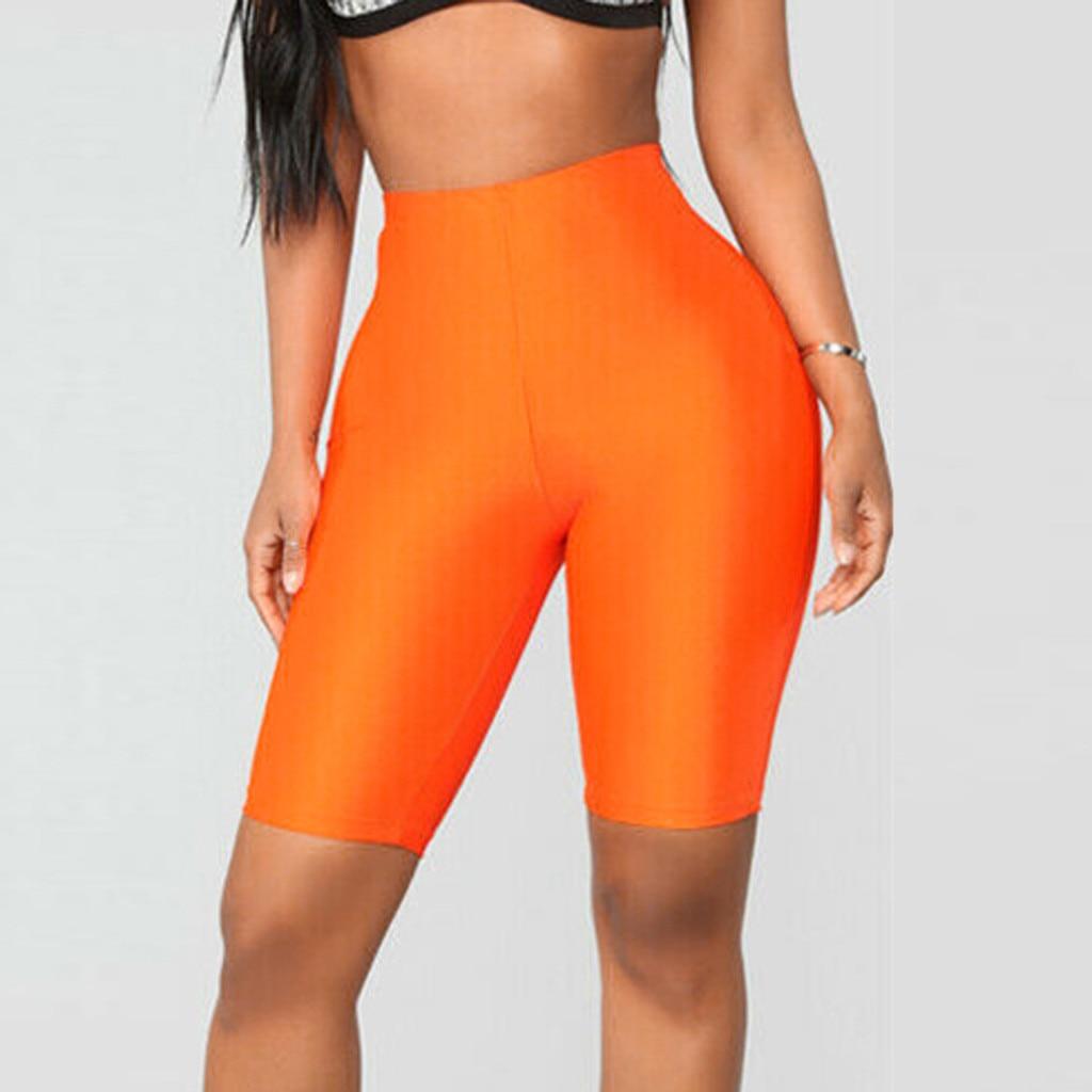 Neon Lime Elastic Waist   Leggings   Casual Basic Women Summer Fashion   Leggings   Stretchy Fitness Female   Leggings