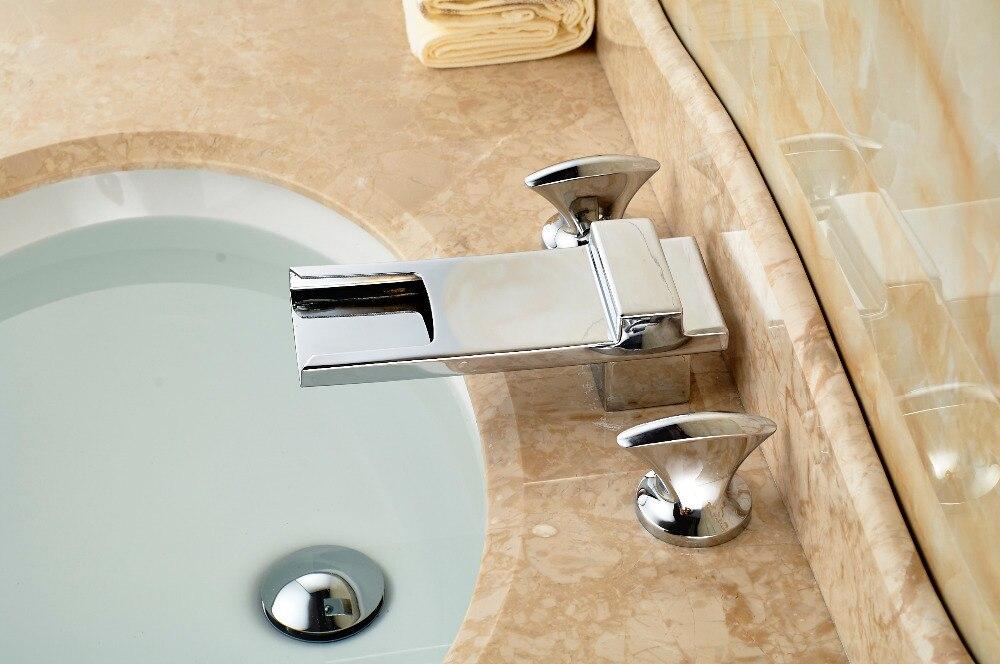 Aliexpress.com : Buy Long Waterfall Spout Chrome Brass Bathroom ...