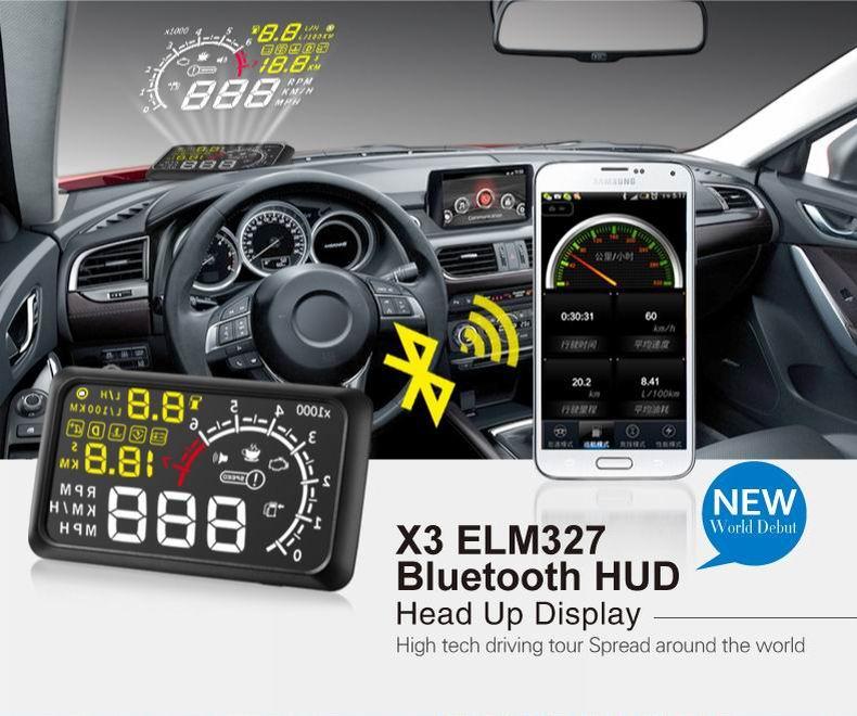 Vikewe X3 5.5 Car HUD Head Up Display OBD2 II EUOBD Overspeed Warning System Projector