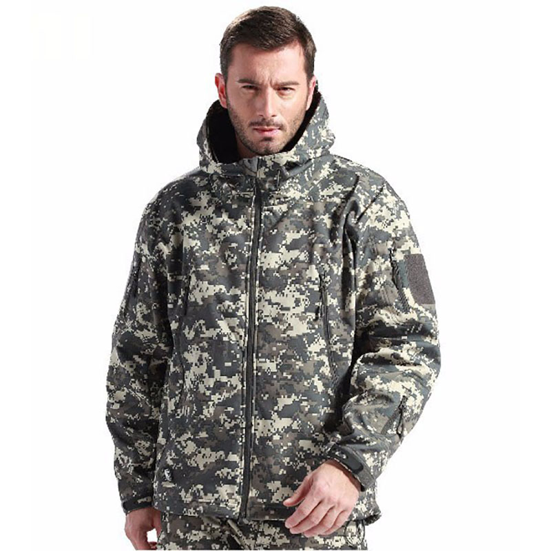 Softshell Jackets men women kids Outdoor Sport V5.0 Waterproof Military Hiking Camouflage Tactical Army Camping Thermal Coat