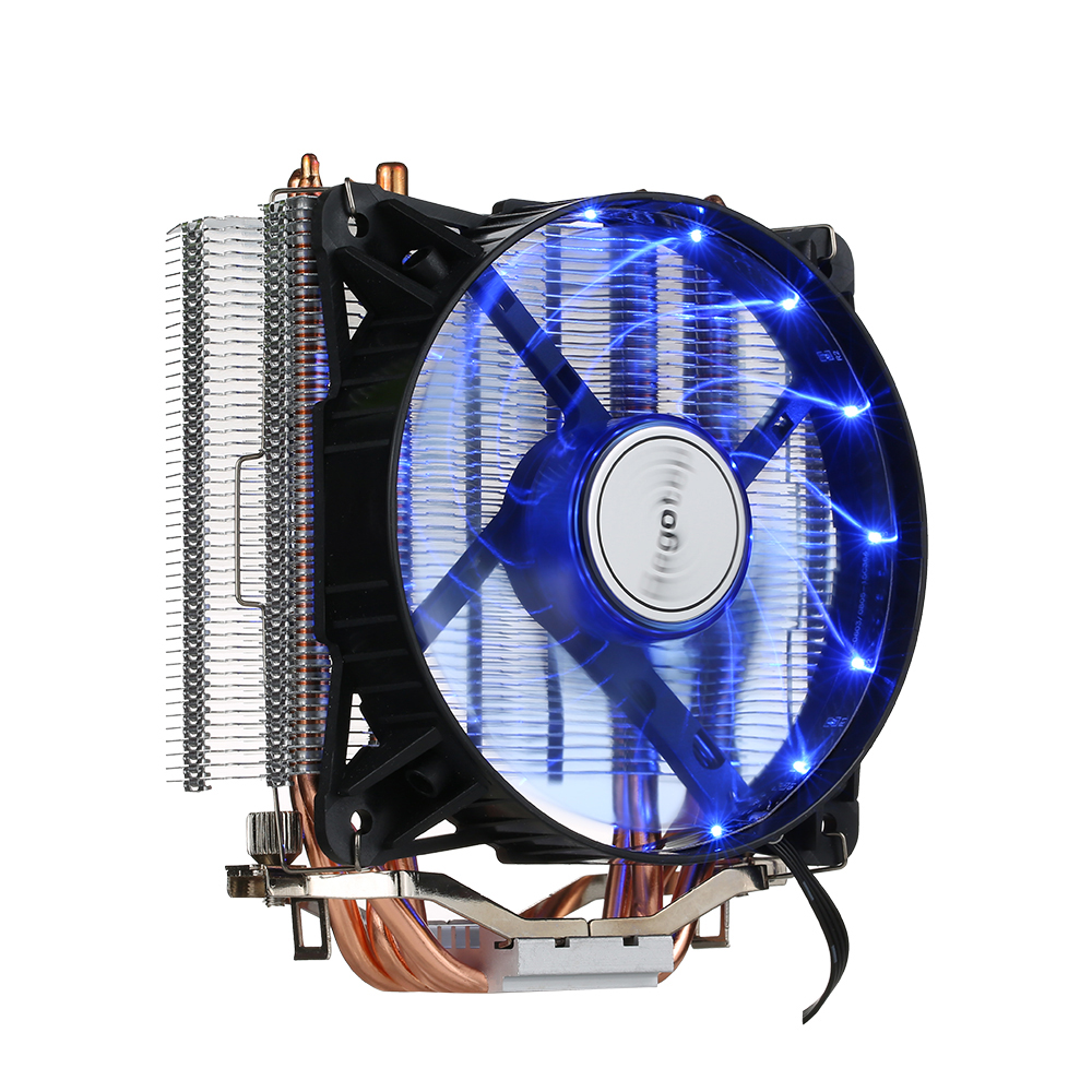 Segotep 4 Heatpipes T4 Frozen Tower Cooling System CPU Cooler LED Lights 700-2000 RPM for Intel AMD CPUs Desktop Gamer PC Case 2200rpm cpu quiet fan cooler cooling heatsink for intel lga775 1155 amd am2 3 l059 new hot