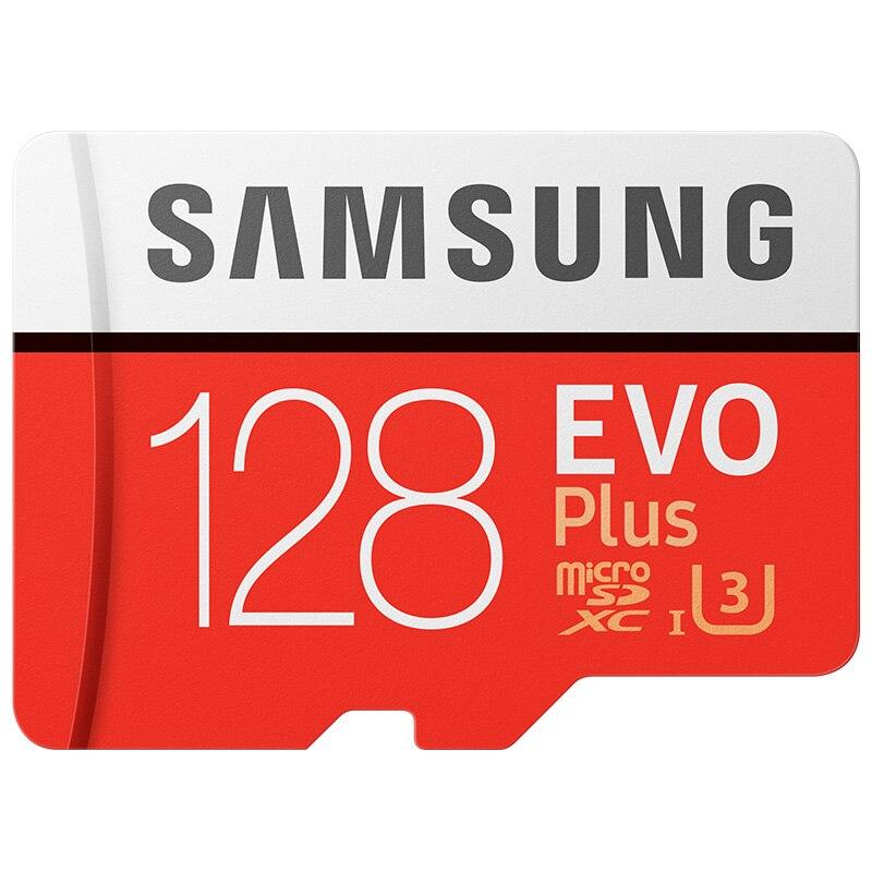 SAMSUNG D'origine Micro SD carte 128 gb u3 Carte Mémoire 128 gb EVO Plus sdhc u3 c10 TF Carte C10 90 mb/s MICROSDXC UHS-1 Livraison Gratuite